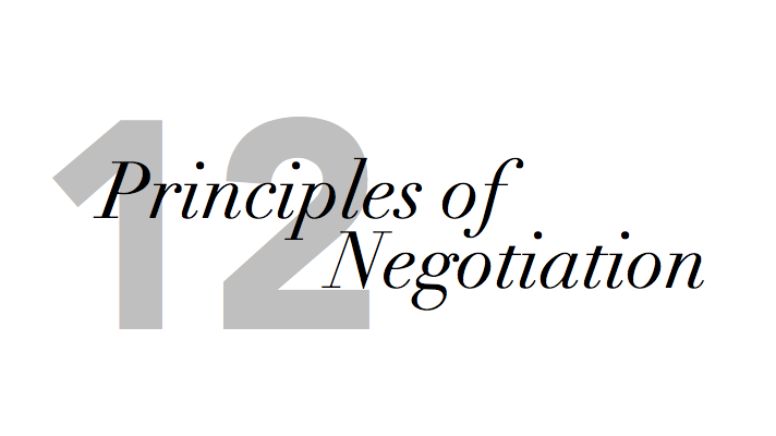 Twelve Principles for Negotiating with Clients