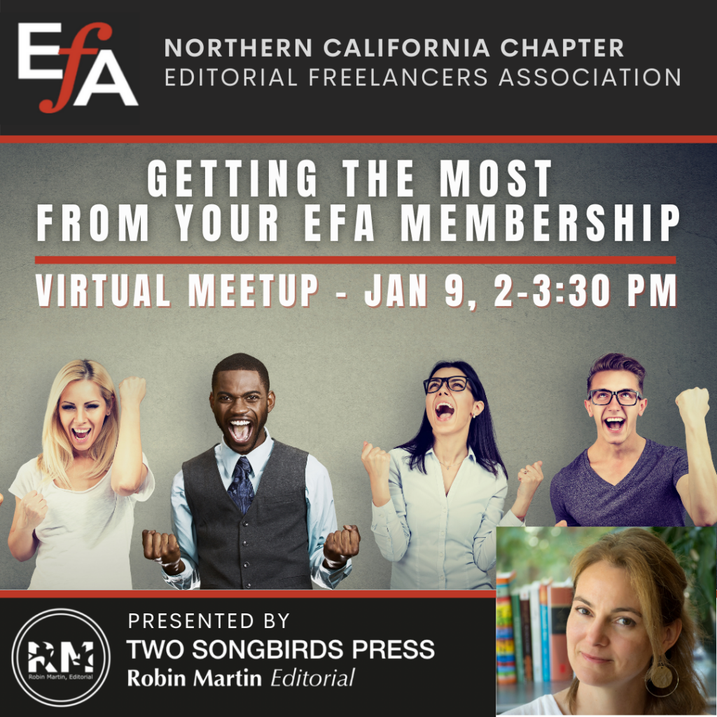 Northern California Chapter's January Meeting: Getting the Most from Your EFA Membership