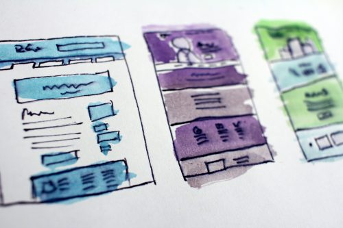 website storyboard sketch