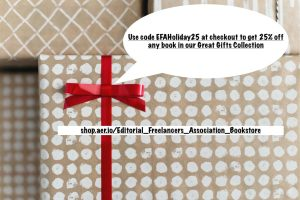 this image contains the code for the great gifts for word nerds sale at EFA
